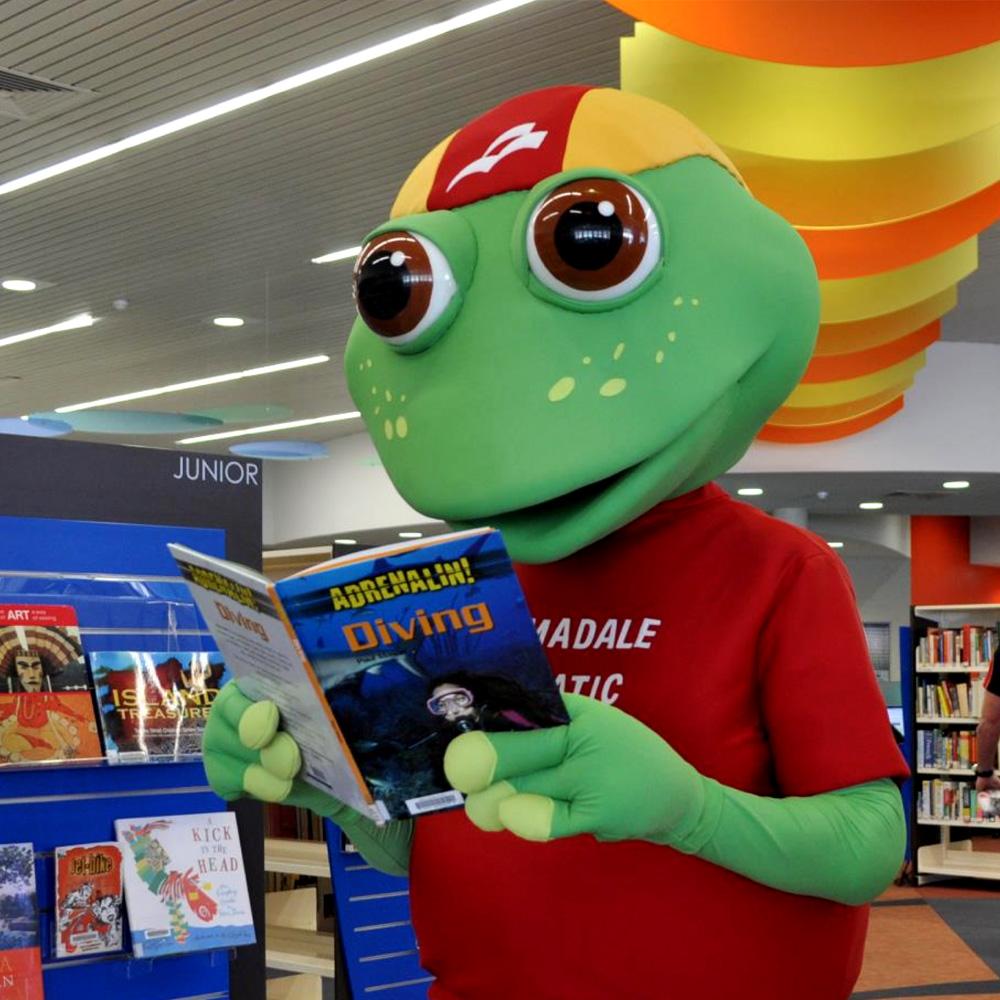 Fergus the Frog - Mascot