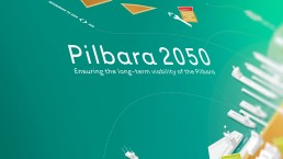 Pilbara 2050 Infographic, Illustration, Graphic Design